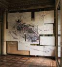TEO CRUEL insitu,2016-polyptyque, bic quatre couleurs sur papiers-300x400cm